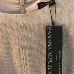 Banana Republic Grey Short Sleeve Dress NWT